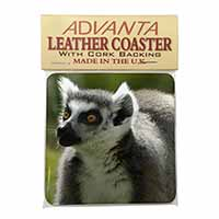 Ringtail Lemur Single Leather Photo Coaster Perfect Gift