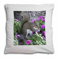 Squirrel by Flowers Soft Velvet Feel Cushion Cover With Pillow Inner
