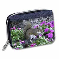 Squirrel by Flowers Girls/Ladies Denim Purse Wallet Birthday Gift Idea