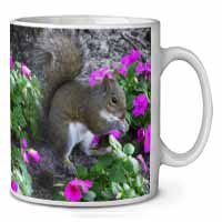 Squirrel by Flowers Coffee/Tea Mug Gift Idea