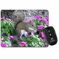 Squirrel by Flowers Computer Mouse Mat Birthday Gift Idea