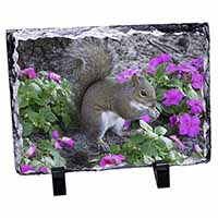 Squirrel by Flowers Photo Slate Photo Ornament Gift