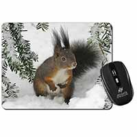 Forest Snow Squirrel Computer Mouse Mat Birthday Gift Idea