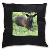 Black Lamb Black Border Satin Feel Cushion Cover With Pillow Insert