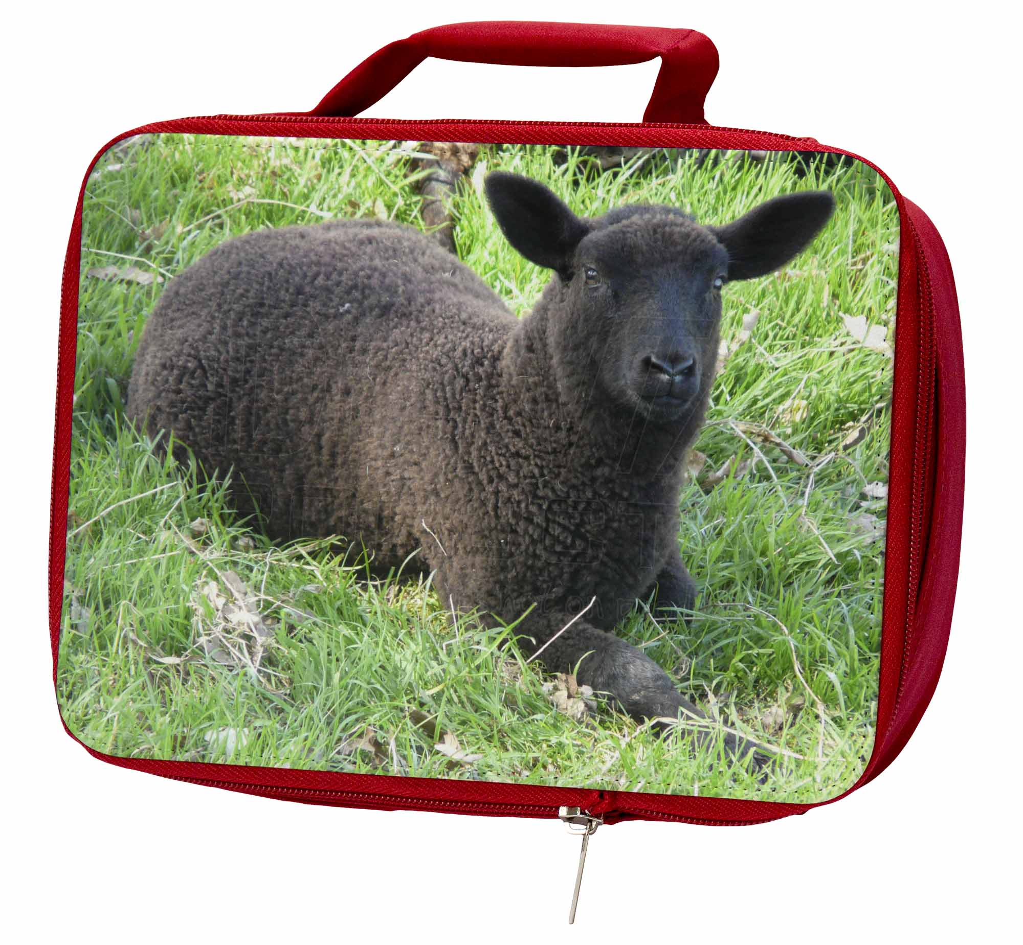 Details about Black Lamb Insulated Red School Lunch Box/Picnic Bag, ASH-8LBR