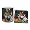 Bengal Tiger in Sunshade Mug+Coaster Christmas/Birthday Gift Idea