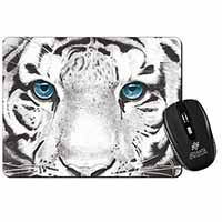 Siberian White Tiger Computer Mouse Mat Christmas Gift Idea