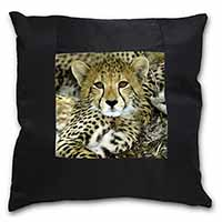 Baby Cheetah Black Border Satin Feel Scatter Cushion