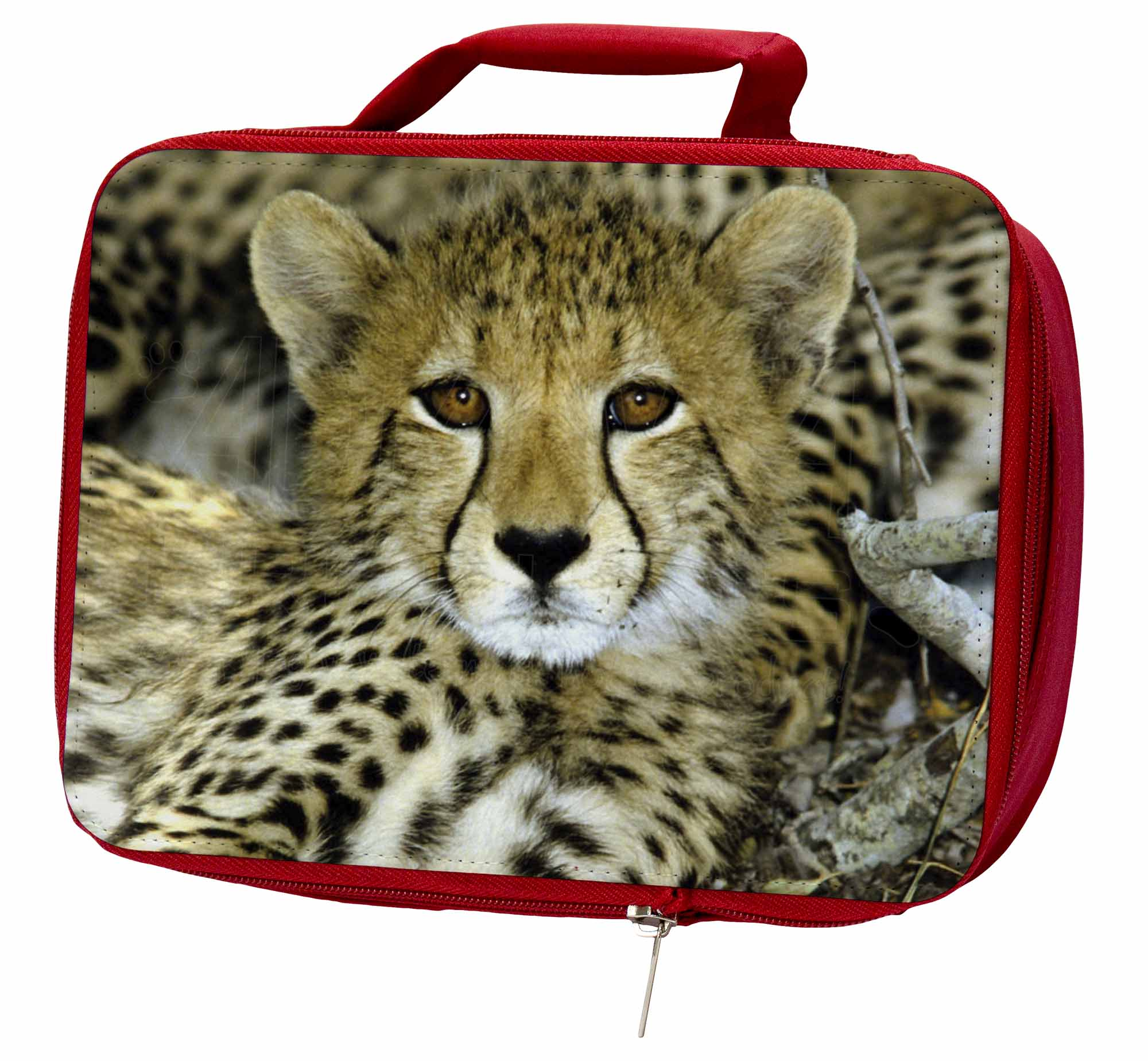 Baby Cheetah Insulated Red Box/Picnic School Lunch Box/Picnic Red Bag, AT-18LBR 87eb02