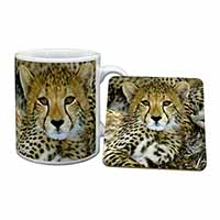 Baby Cheetah Mug+Coaster Birthday Gift Idea