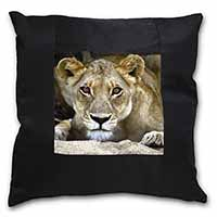 Lioness Black Border Satin Feel Scatter Cushion