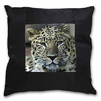 Leopard Black Border Satin Feel Scatter Cushion