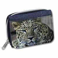 Leopard Girls/Ladies Denim Purse Wallet Birthday Gift Idea