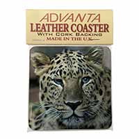 Leopard Single Leather Photo Coaster Perfect Gift