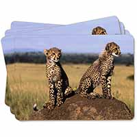 Cheetahs on Watch Picture Placemats in Gift Box