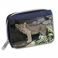 Lion Cub Girls/Ladies Denim Purse Wallet Birthday Gift Idea