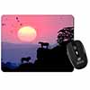 African Lions Sunrise Computer Mouse Mat Christmas Gift Idea