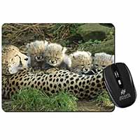 Cheetah and Newborn Babies Computer Mouse Mat Birthday Gift Idea
