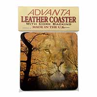 Lion Spirit Watch Single Leather Photo Coaster Perfect Gift