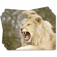 Roaring White Lion Picture Placemats in Gift Box