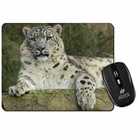 Beautiful Snow Leopard Computer Mouse Mat Birthday Gift Idea