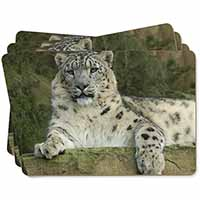 Beautiful Snow Leopard Picture Placemats in Gift Box
