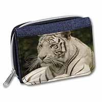 White Tiger Girls/Ladies Denim Purse Wallet Christmas Gift Idea