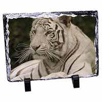 White Tiger Photo Slate Christmas Gift Ornament