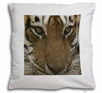 Face of a Bengal Tiger Soft Velvet Feel Scatter Cushion