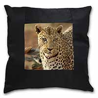 Leopard Black Border Satin Feel Cushion Cover+Pillow Insert