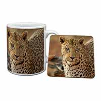 Leopard Mug+Coaster Birthday Gift Idea