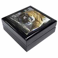 Tiger in Snow Keepsake/Jewellery Box Birthday Gift Idea