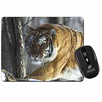 Tiger in Snow Computer Mouse Mat Birthday Gift Idea