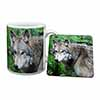 Grey Wolf Mug+Coaster Christmas/Birthday Gift Idea
