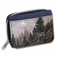 Mountain Wolf Girls/Ladies Denim Purse Wallet Birthday Gift Idea