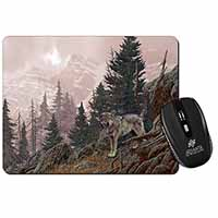 Mountain Wolf Computer Mouse Mat Birthday Gift Idea