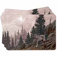 Mountain Wolf Picture Placemats in Gift Box