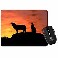 Sunset Wolves Computer Mouse Mat Birthday Gift Idea