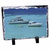 Yachts in Paradise Photo Slate Photo Ornament Gift
