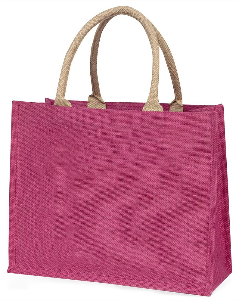 Silber Meerschweinchen' Liebe, die sie Mama' große rosa Einkaufstasche