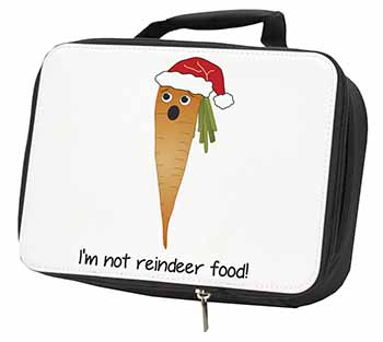 Christmas Carrot Black Insulated School Lunch Box Bag