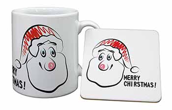 Merry Christmas Mug+Coaster Birthday Gift Idea