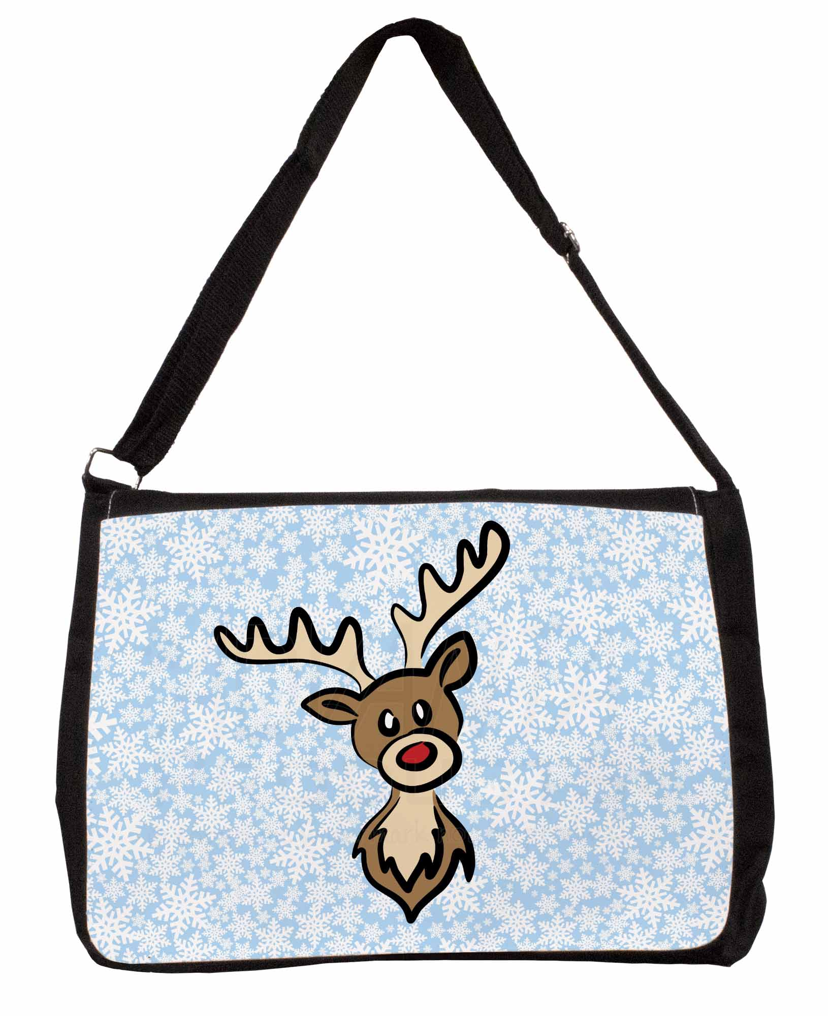 Realistico Rudolph The Red Nosed Reindeer Large Nero Laptop Borsa A Tracolla S, Natale - 15sb-