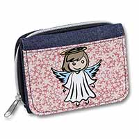 Christmas Angel Girls/Ladies Denim Purse Wallet Birthday Gift Idea