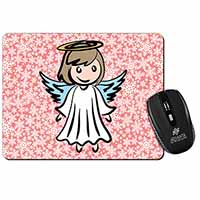 Christmas Angel Computer Mouse Mat Birthday Gift Idea