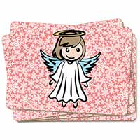 Christmas Angel Picture Placemats in Gift Box