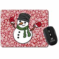 Christmas Snow Man Computer Mouse Mat Birthday Gift Idea