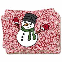 Christmas Snow Man Picture Placemats in Gift Box