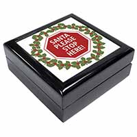 Christmas Stop Sign Keepsake/Jewellery Box Birthday Gift Idea
