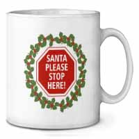 Christmas Stop Sign Coffee/Tea Mug Gift Idea